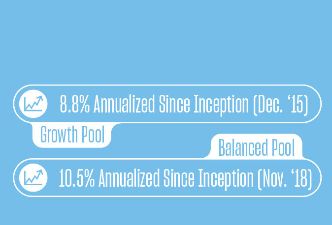 investment returns growth and balanced pool